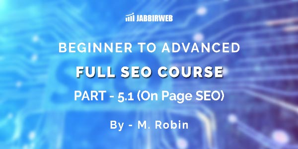 on page seo tutorial 2019